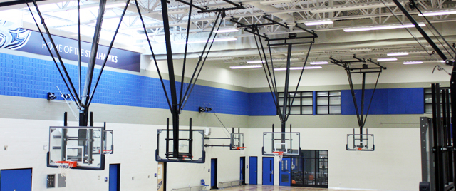 CEILING MOUNT BASKETBALL BACKSTOP
