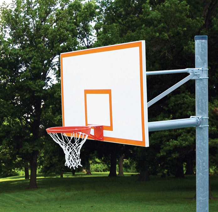 Straight Basketball Post Outdoor Basketball Posts