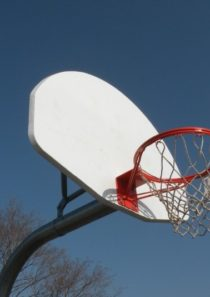 Gooseneck Basketball Post (Front Mount)