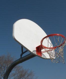 Gooseneck Basketball Post (Front Mount)