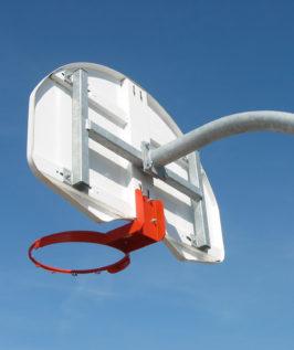 Gooseneck Basketball Post (Rear Mount)