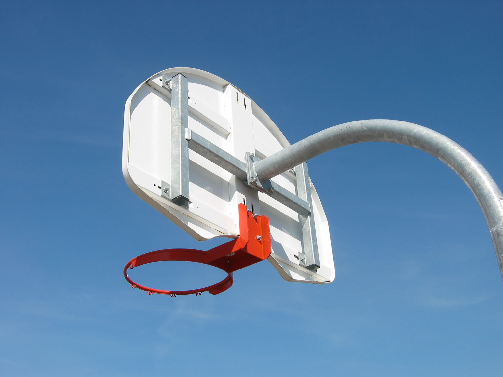 Gooseneck Basketball Post (Rear Mount)
