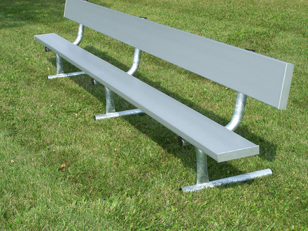 Portable bench with backrest by Forum Athletic Products Inc.