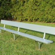 Fixed bench with backrest by Forum Athletic Products Inc.