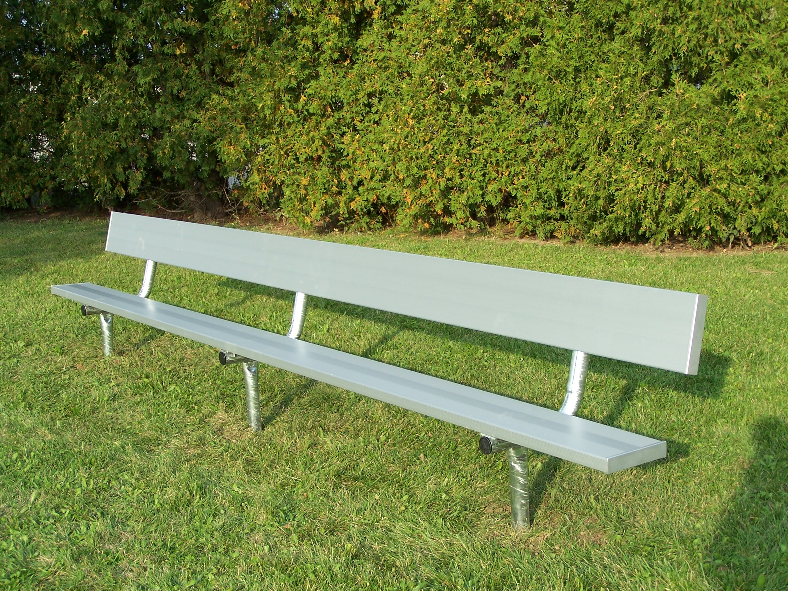 Outdoor benches aluminum seating fixed portable Aluminum benches
