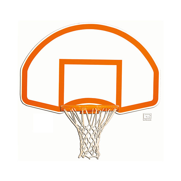 Steel Fan Shaped Backboard with Border & Target