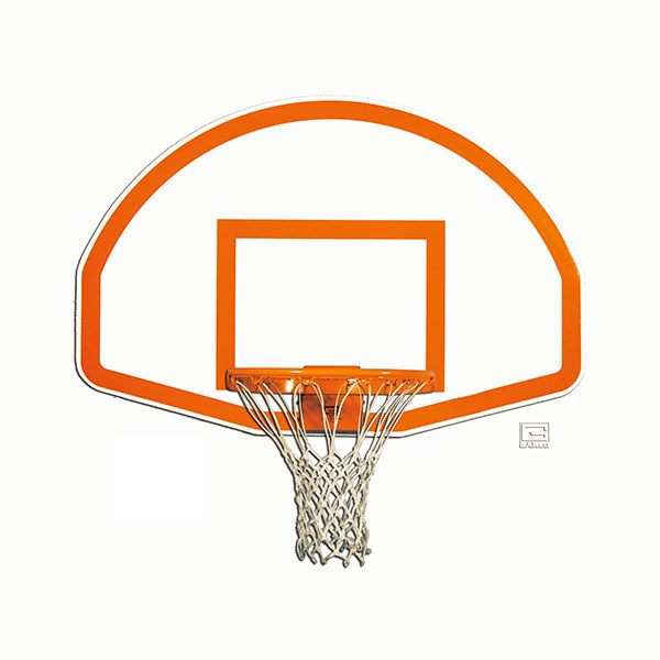 Aluminum Fan Shaped Backboard with Border & Target