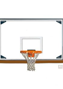 Glass Rectangular Shaped Backboard (Tall)
