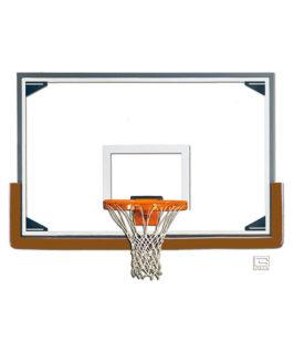 Glass Rectangular Shaped Backboard (Tall)