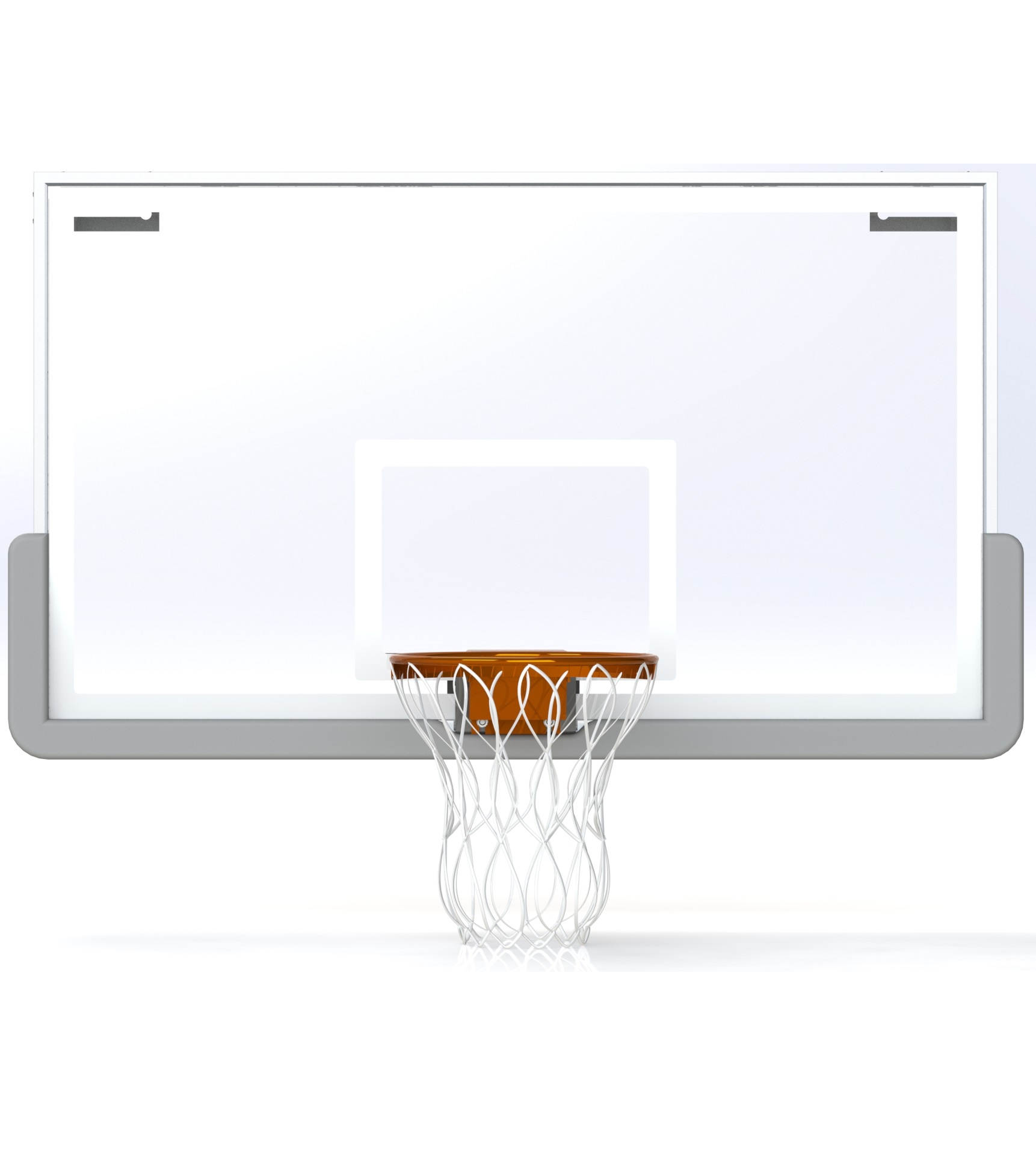 Glass Rectangular Shaped Backboard (Regulation)