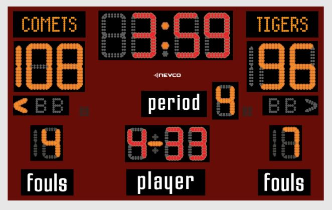 Nevco Model 2710 Basketball Scoreboard