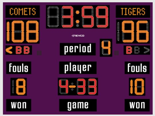 Nevco Model 2750 Basketball Scoreboard