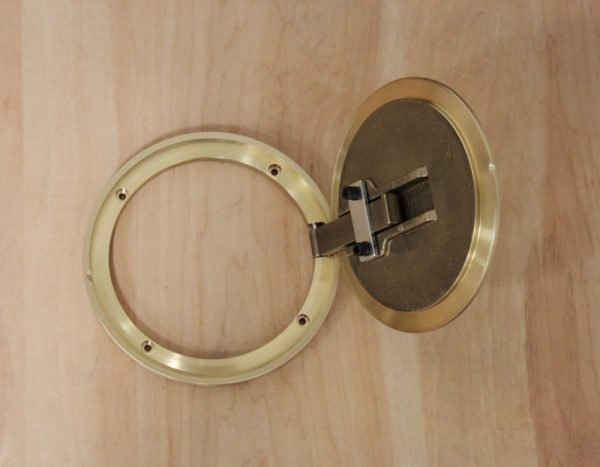 Cover Plate Brass Open