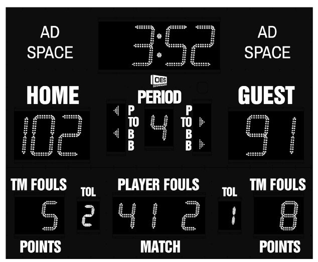 OES M5009C Scoreboard